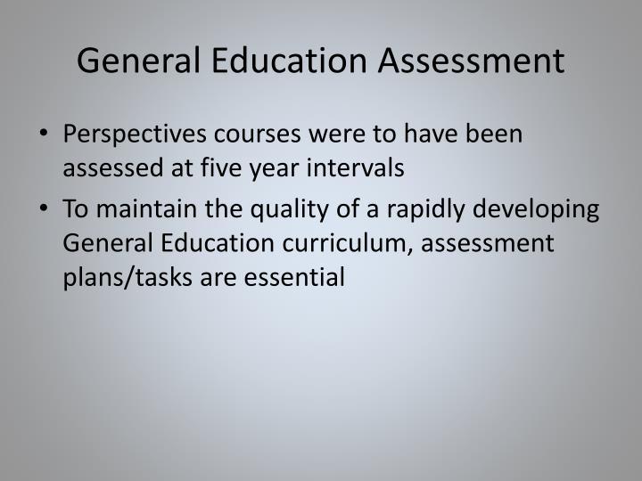 General Education Assessment