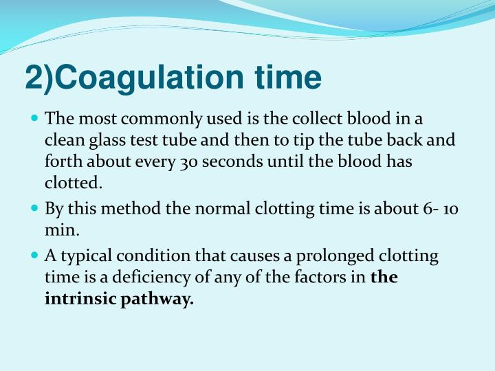 2)Coagulation