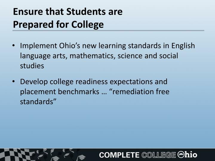Ensure that Students are