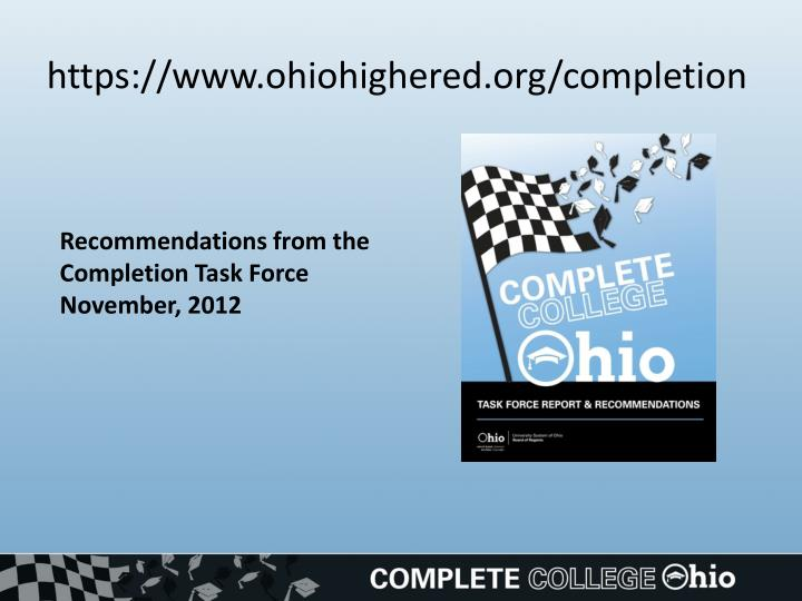 Https www ohiohighered org completion