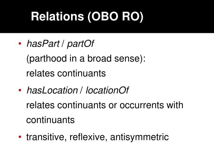 Relations (OBO RO)