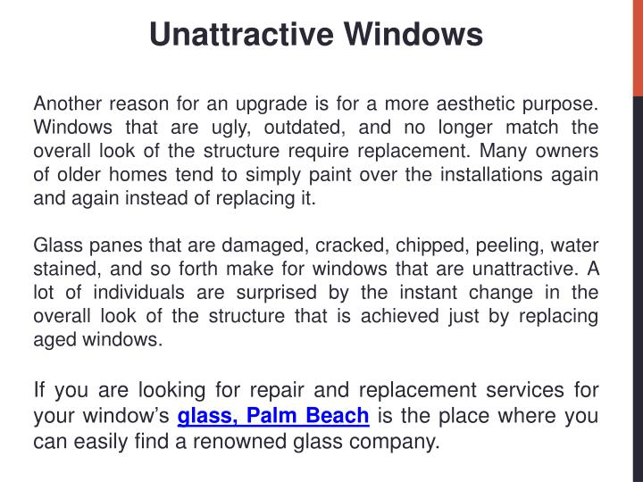Unattractive Windows