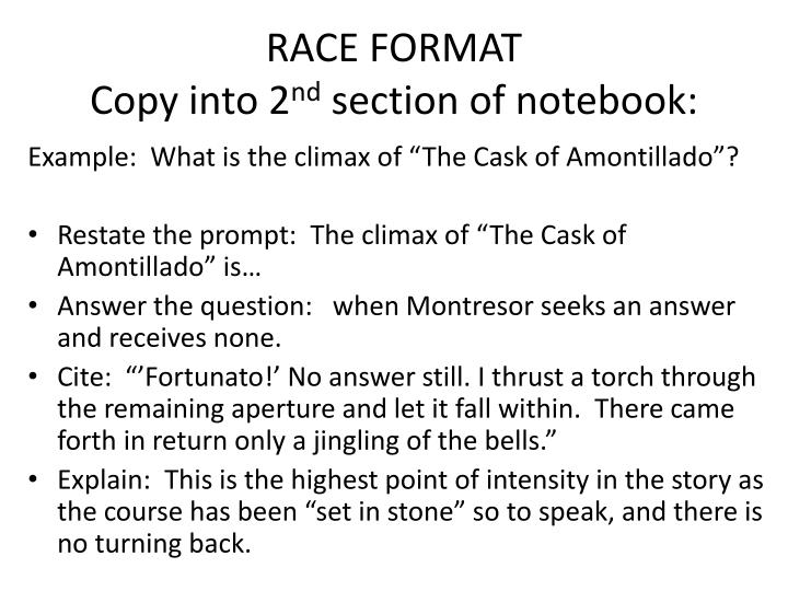 Race format copy into 2 nd section of notebook