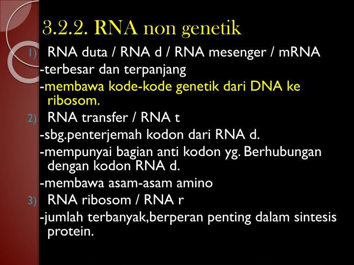 3.2.2. RNA non