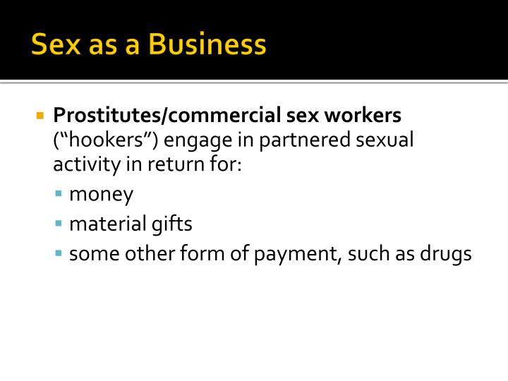 Sex as a business