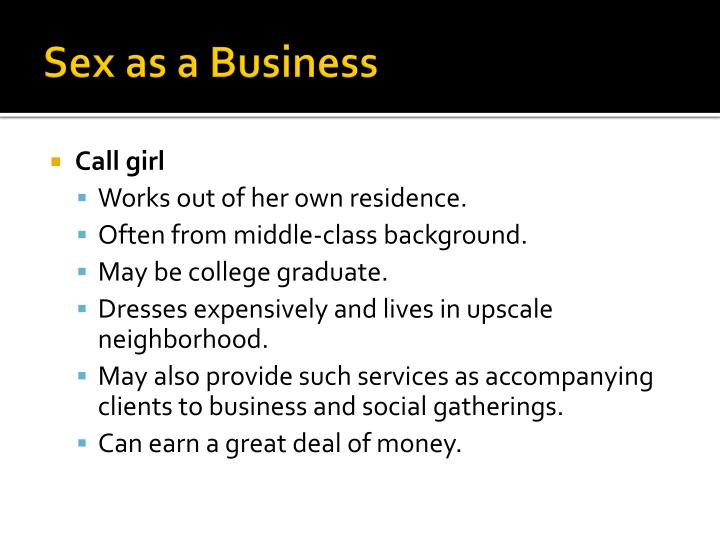 Sex as a business1
