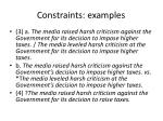 constraints examples