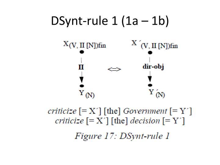 DSynt-rule
