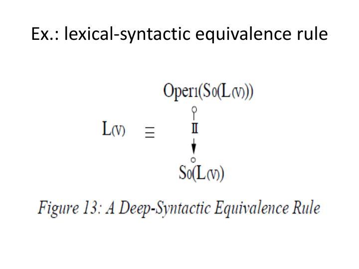 Ex.: lexical-