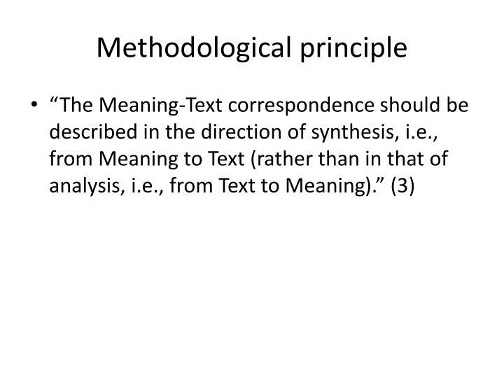 Methodological