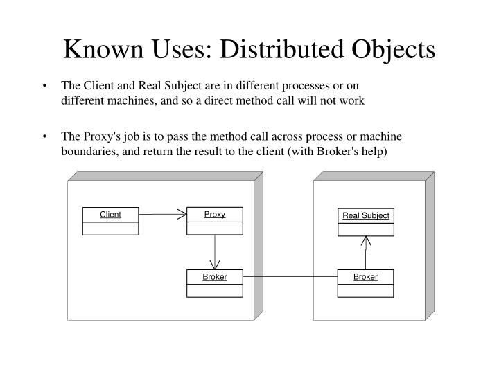Known Uses: Distributed Objects
