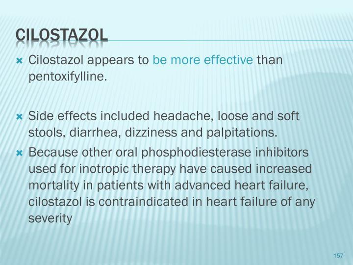 Cilostazol appears to