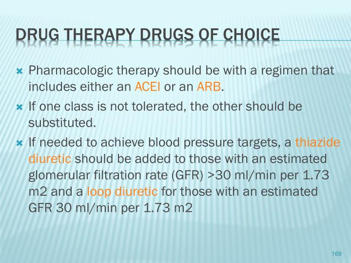 Pharmacologic therapy should be with a regimen that includes either an