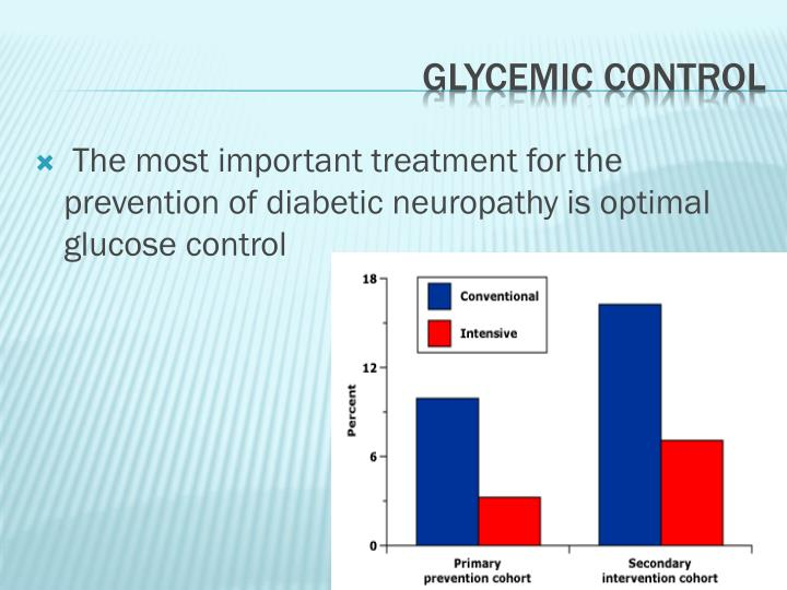 The most important treatment for the prevention of diabetic neuropathy is optimal glucose control