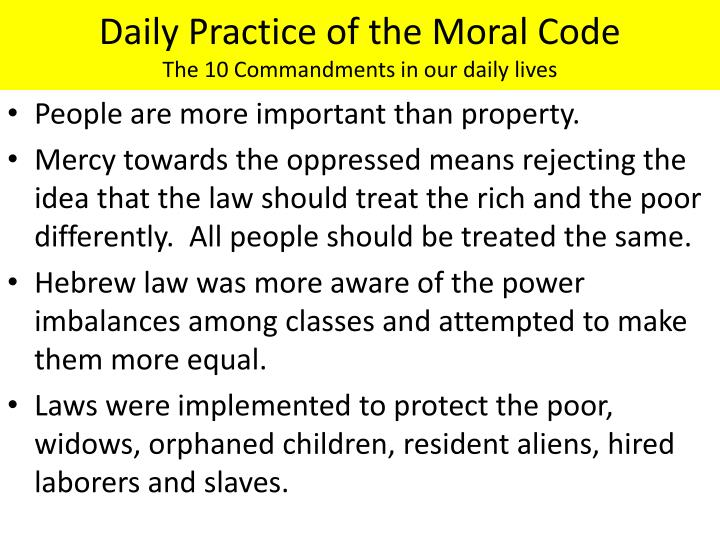 Daily Practice of the Moral Code