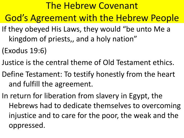 The Hebrew Covenant