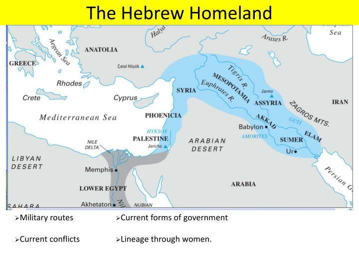 The Hebrew Homeland