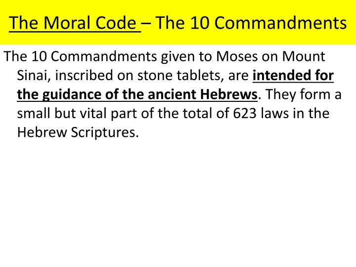 The Moral Code