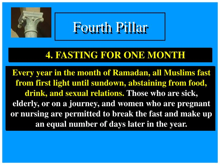 4. FASTING FOR ONE MONTH