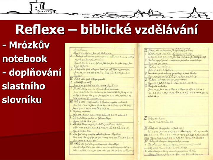 Reflexe – biblické