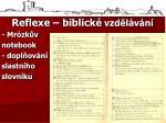 reflexe biblick vzd l v n mr zk v notebook dopl ov n slastn ho slovn ku