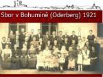 sbor v bohum n oderberg 19211