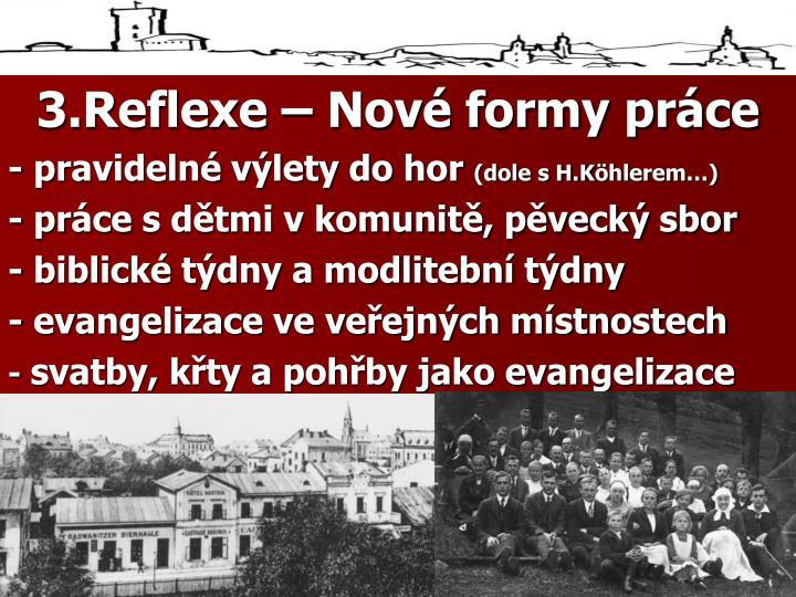 3.Reflexe – Nové formy práce