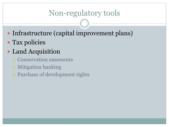 Non-regulatory tools