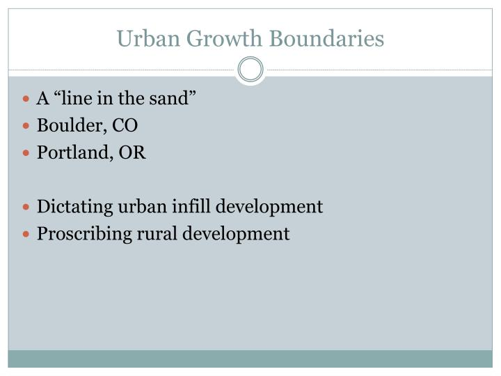 Urban Growth Boundaries