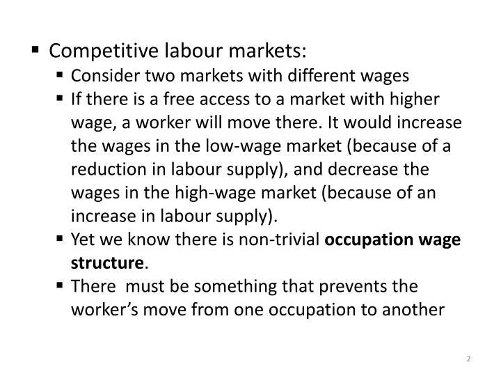Competitive labour markets: