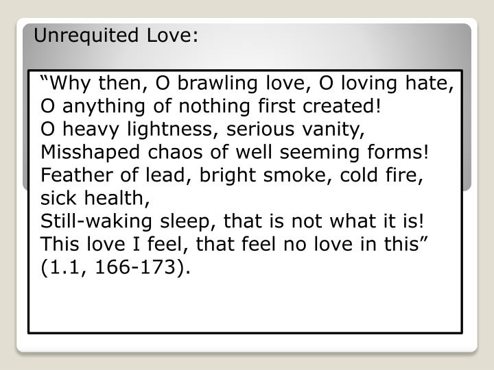 Unrequited Love: