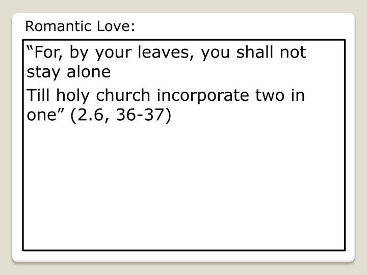 Romantic Love: