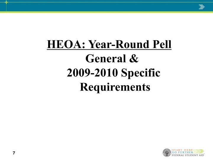 HEOA: Year-Round Pell