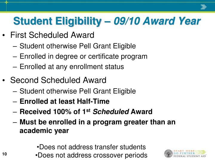 Student Eligibility –