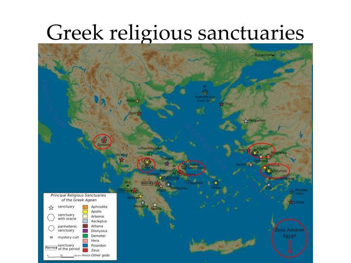 Greek religious sanctuaries