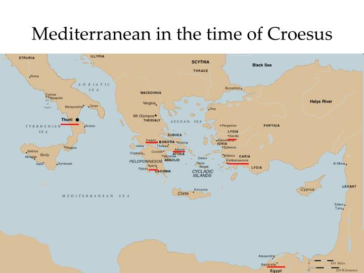 Mediterranean in the time of Croesus
