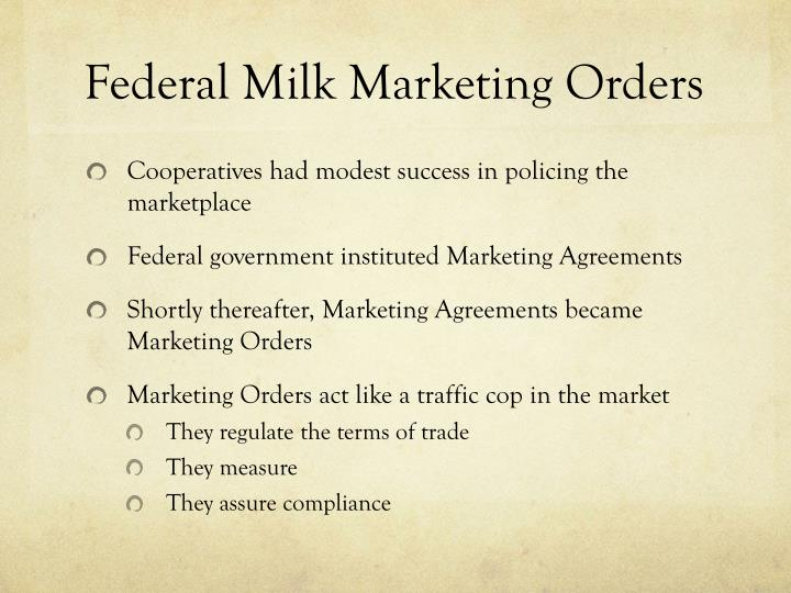 Federal Milk Marketing Orders