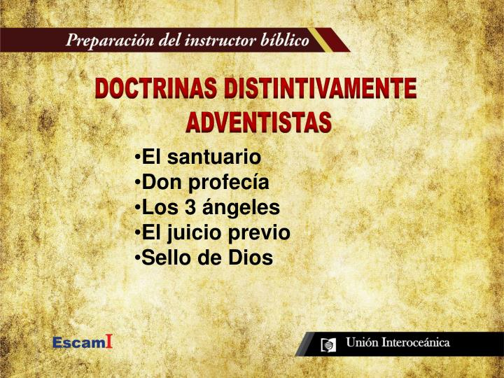 DOCTRINAS DISTINTIVAMENTE