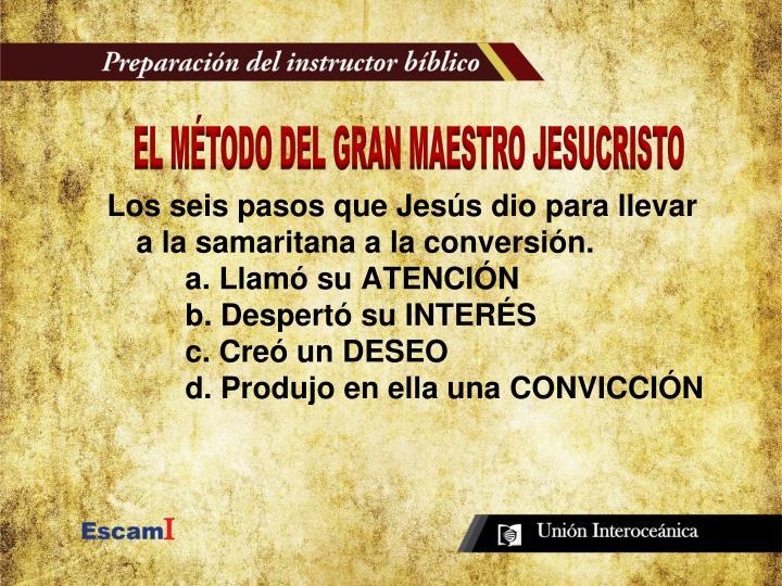 EL MÉTODO DEL GRAN MAESTRO JESUCRISTO