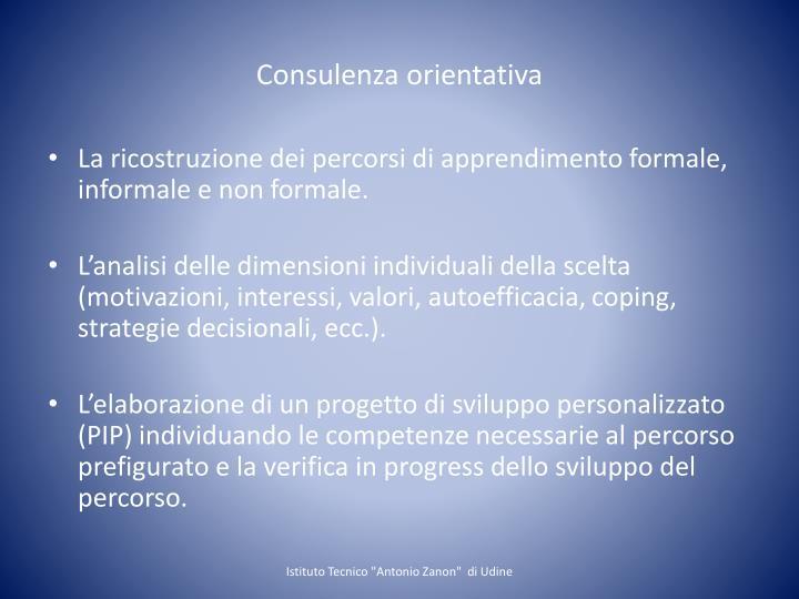 Consulenza orientativa