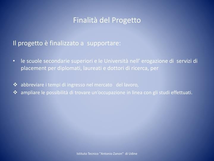 Finalità del Progetto
