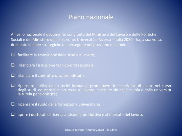 Piano nazionale