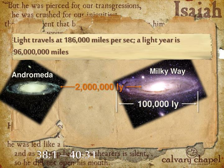 Light travels at 186,000 miles per