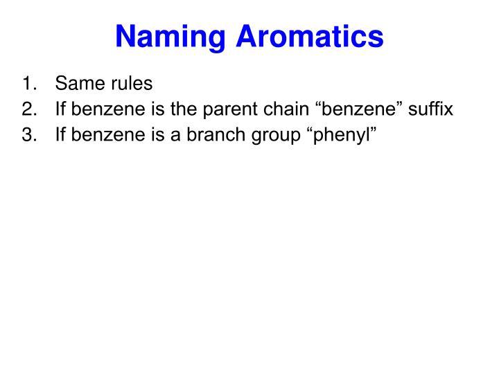 Naming Aromatics