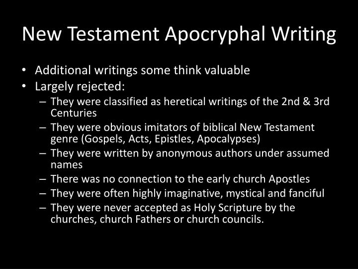 New Testament Apocryphal Writing