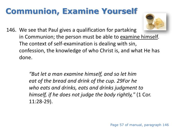 Communion, Examine Yourself