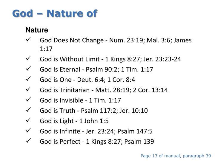 God – Nature of