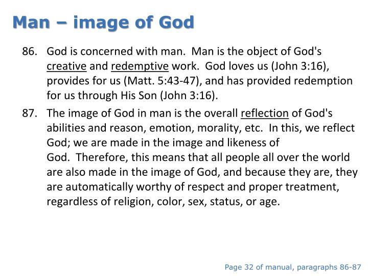 Man – image of God