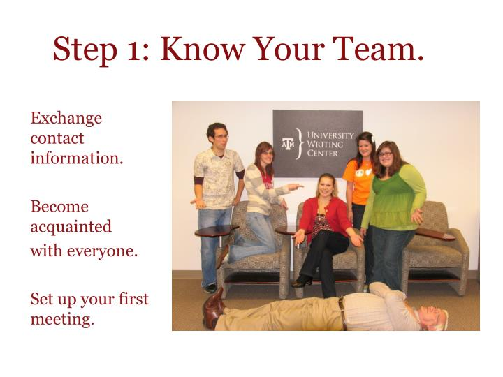 Step 1: Know Your Team.