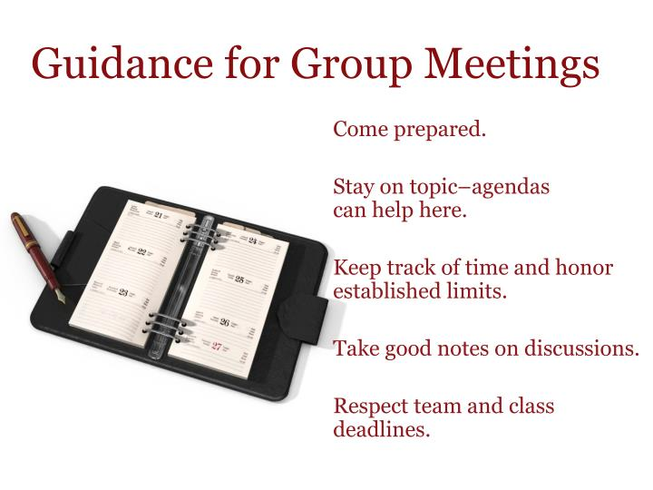 Guidance for Group Meetings